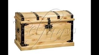 Сундук из коробки своими руками