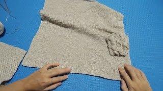 Вязание спицами и крючком. Юбка из льна