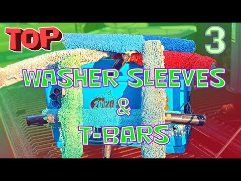 TOP 3 WASHER SLEEVES AND T-BARS   WINDOW CLEANING