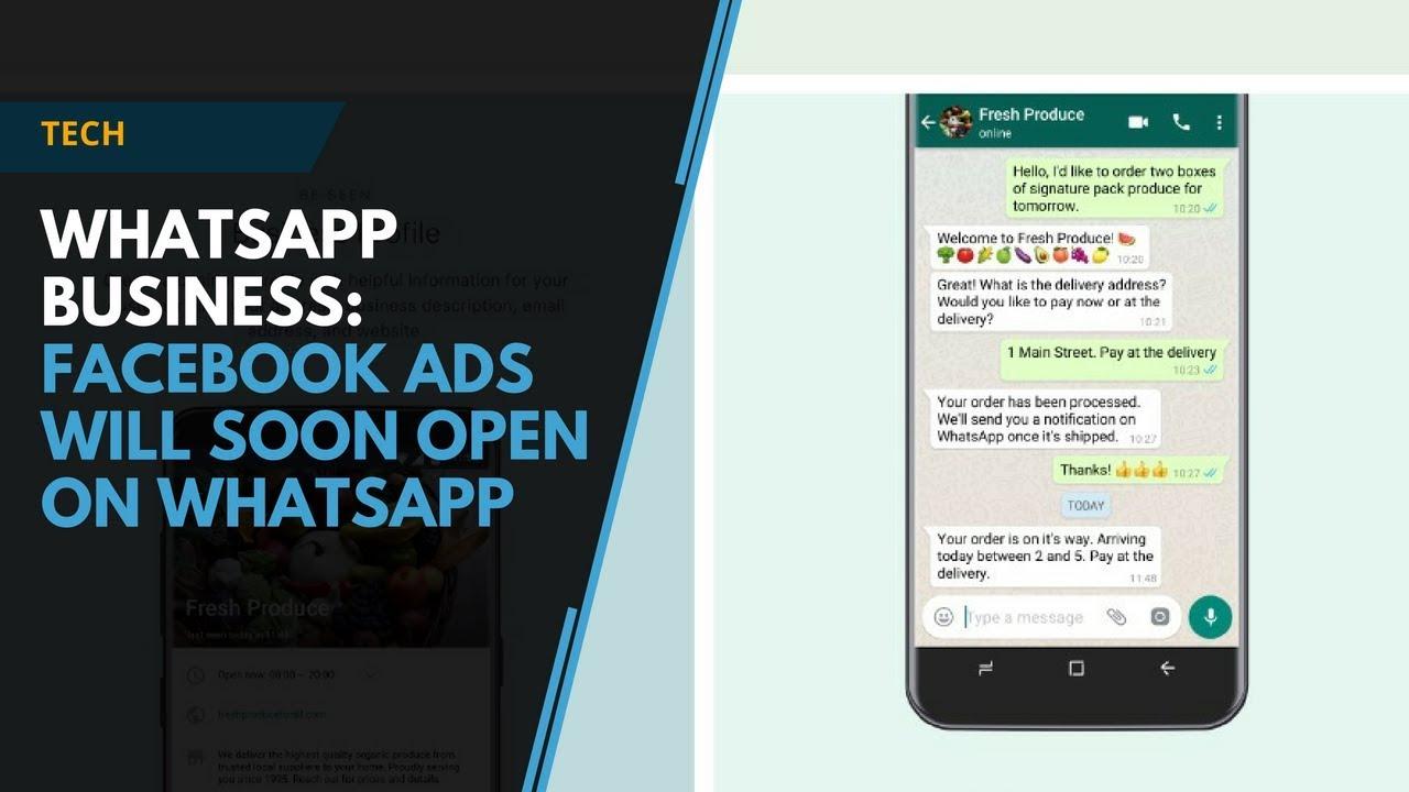 Whatsapp Business Facebook Ads Will Soon Open On Whatsapp Youtube