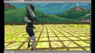 Project SwordPlay: Unity editor attack test