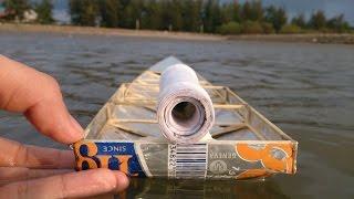Mô hình Cano làm từ vỏ lon gắn tên lửa