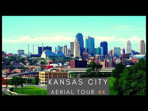 Downtown Kansas CIty - 4K AERIAL DRONE