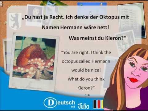 Learn German - Kieron And Elaine In Sealife - Lesson 18 - Learn German With Julia