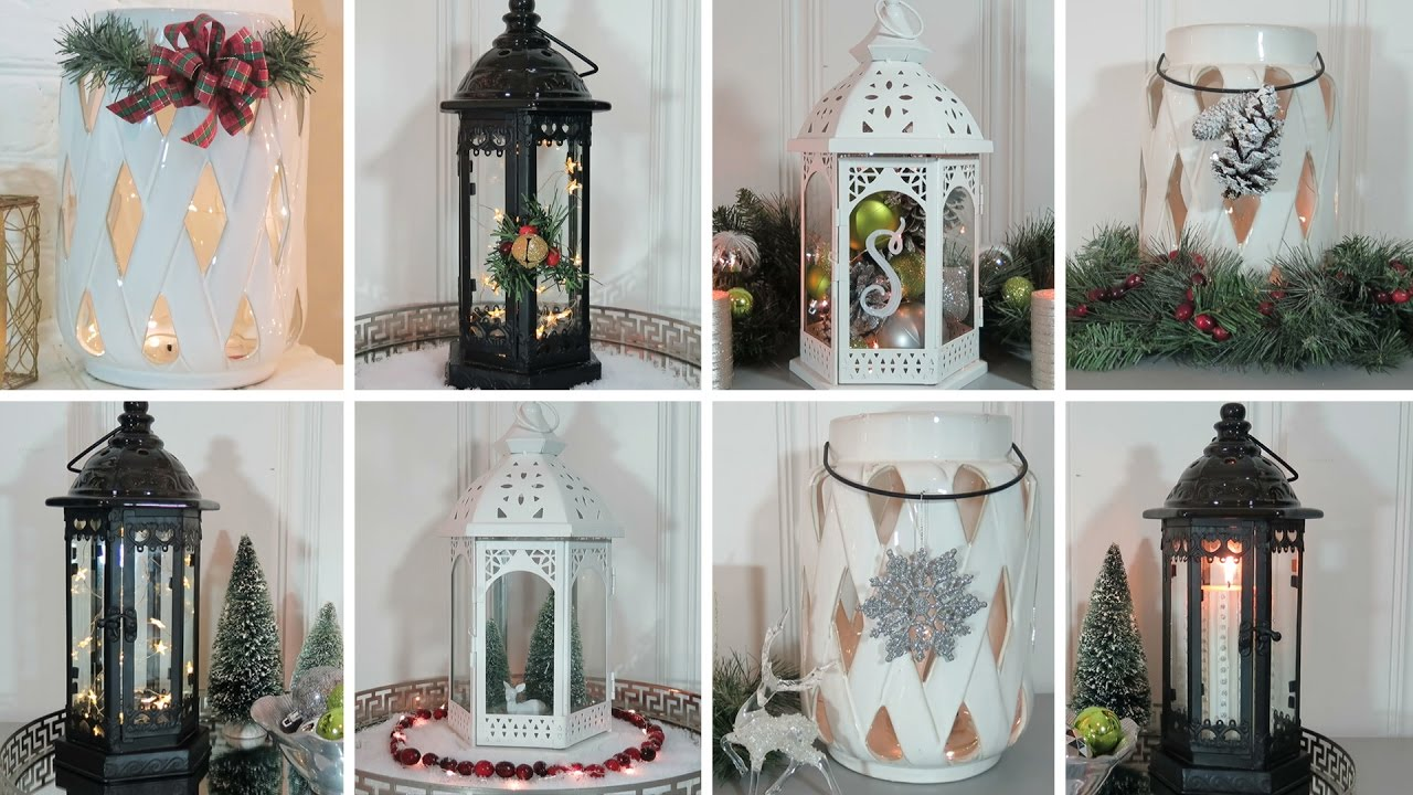christmas lantern decorating ideas - How To Decorate A Lantern For Christmas
