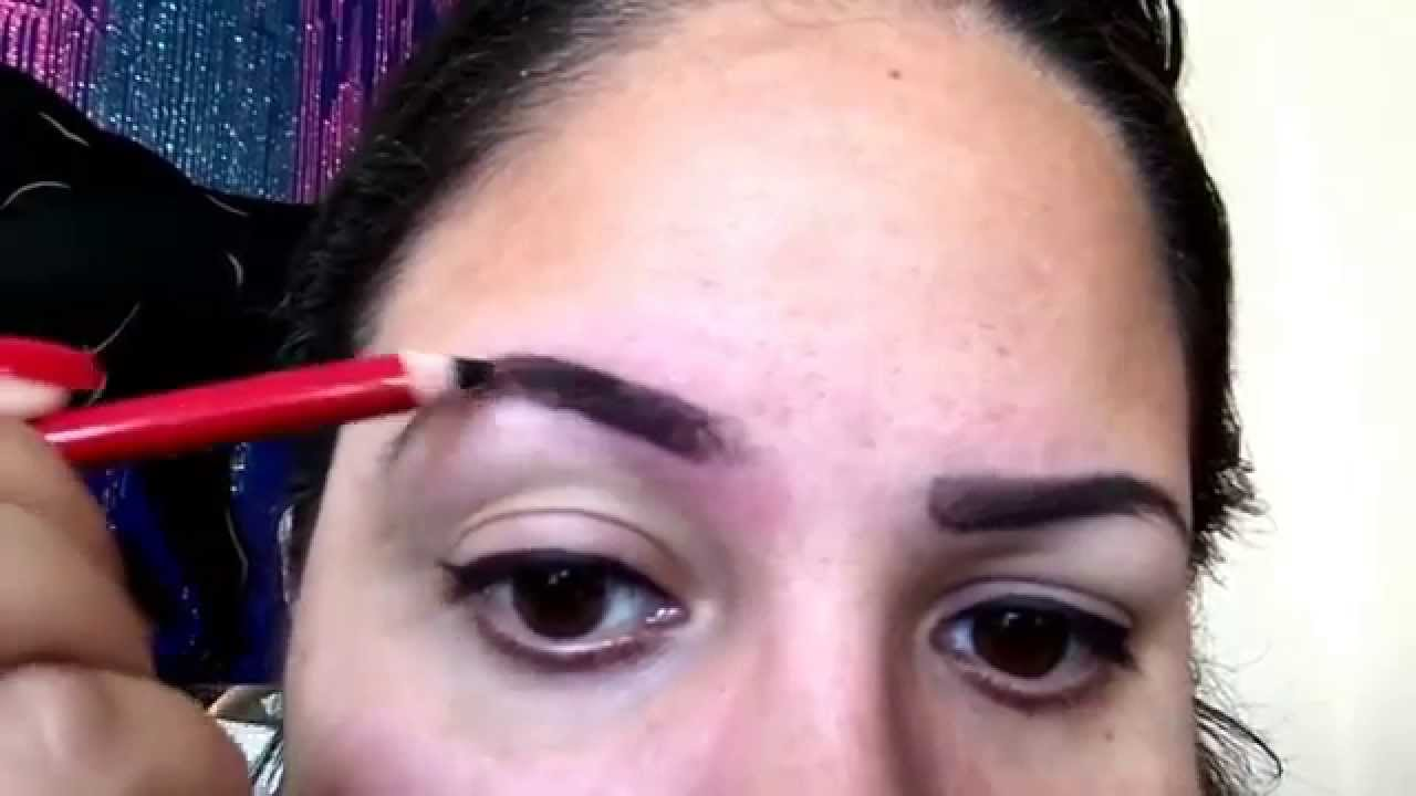 How To Do Your Eyebrows Using An Eyelinereyebrow Pencil Youtube