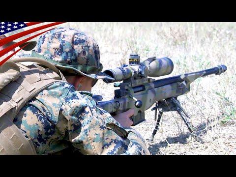 US Marines Shoot The AWM Sniper Rifle (L115A3) - .338 Lapua Magnum (8.59 mm)