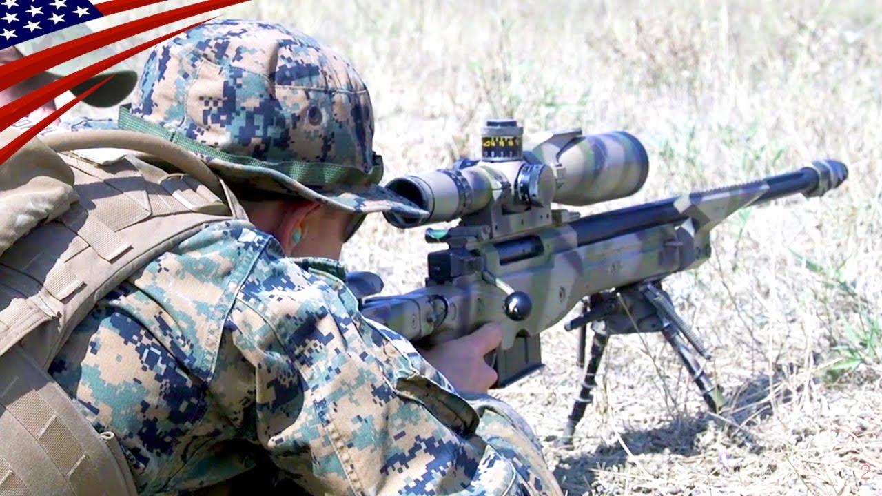 Download US Marines Shoot The AWM Sniper Rifle (L115A3) - .338 Lapua Magnum (8.59 mm)