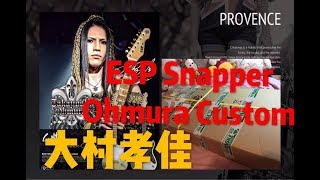 Effect Boy 。【大村孝佳モデル】ESP SNAPPER Ohmura Custom / Eclipse Gold 。Gear 開箱文。
