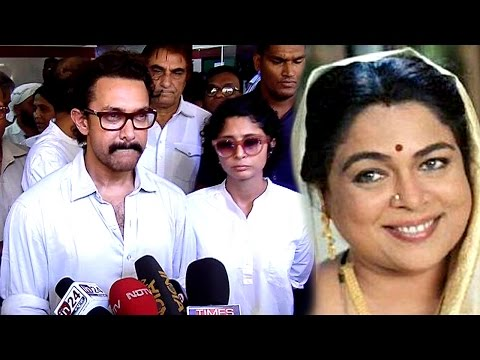 EMOTIONAL Aamir Khan CRIES Remembering Reema Lagoo