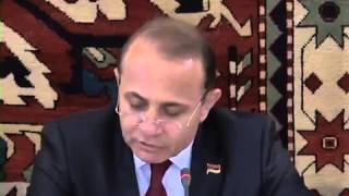 Hovik Abrahamyan's speech at meeting with Georgian counterpart
