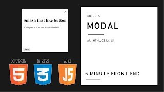 Build a Modal | HTML, CSS & JavaScript Mini Projects | Dylan Israel