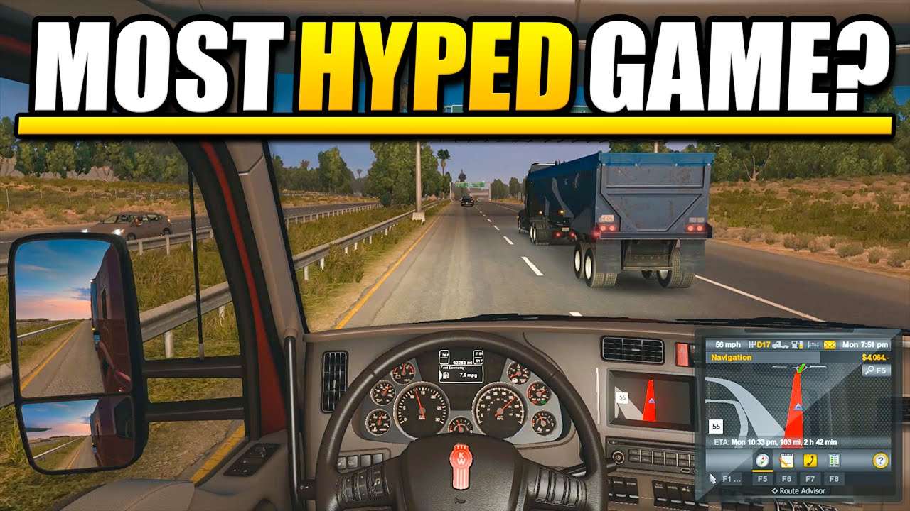 American truck simulator night driving most hyped game of 2016
