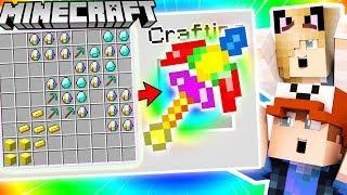 JAK ZROBIĆ EPICKI TĘCZOWY KILOF ZA 100,000$ (Minecraft 1.13 Crafting) | Vito i Bella