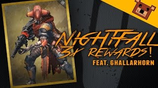Destiny - GHALLARHORN DROP! Taniks Nightfall Strike 3x Rewards (Funny Gaming Moments)