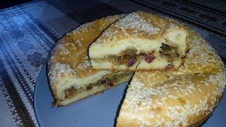 Вкусный Заливной Пирог на  Майонезе с Капустой и Копченой Колбасой !