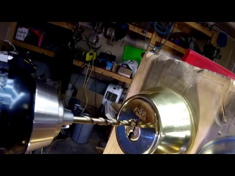 How To Drill Out ASSA Alboy, Medeco, Mul-T-Lock, Schlage Primus High Security Locks Distructive