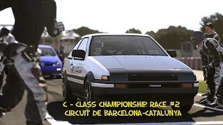 Here is Race #2 of the C Class Circuit in Forza Motorsport 5. This race takes place on the Circuit de Barcelona-Catalunya. I'm using the Toyota AE86 Trueno ...