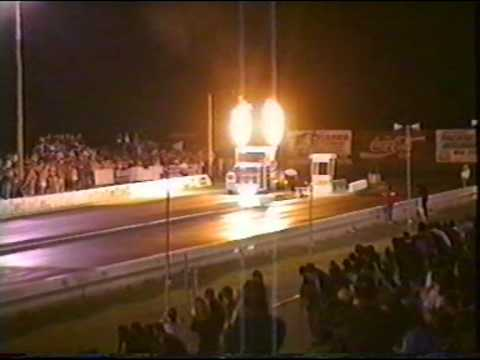 200mph Jet Truck 1/4 mile run at Willowbank raceway QLD 1994 .