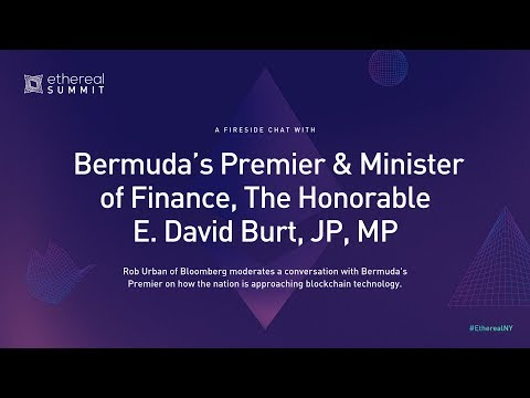 Fireside Chat With Bermuda's Premier & Minster Of Finance, The Hon  E  David Burt, JP, MP