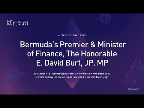 Fireside Chat With Bermuda's Premier & Minster Of Finance, The Hon  E  David Burt, JP, MP