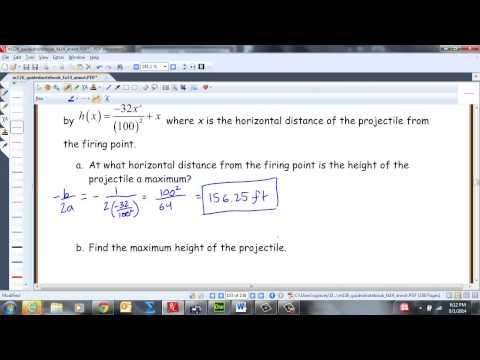 3.4: Build Quadratic Models from Verbal Descriptions