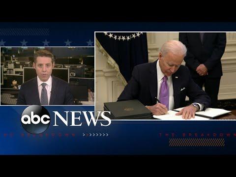 President Joe Biden's 1st full day in office