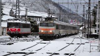Trains sous la neige en Bigorre - Février 2015