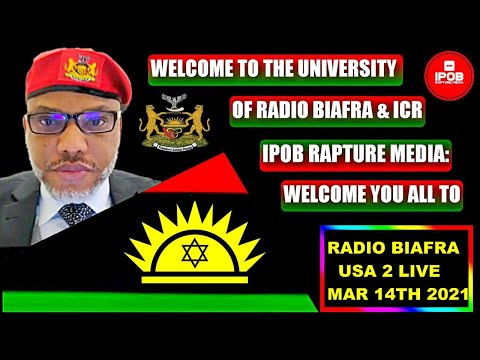 Welcome To Radio Biafra *USA 1 LIVE* Broadcast Mar 14Th 2021   Hosted By Mazi Chukwuemeka Alozie