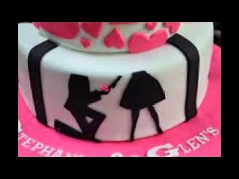 N Mehndi Cake : Engagement cakes youtube