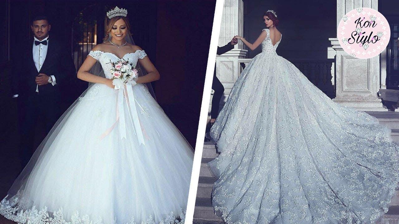 Vestido de novia corte princesa para gorditas