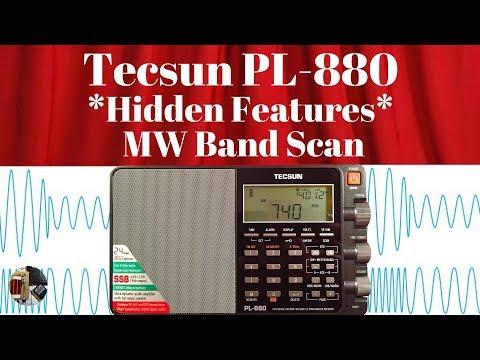 Hidden Features Tecsun PL-880 MW Band Scan