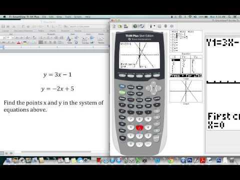 How To Use The TI 84 To Solve Simultaneous Equations