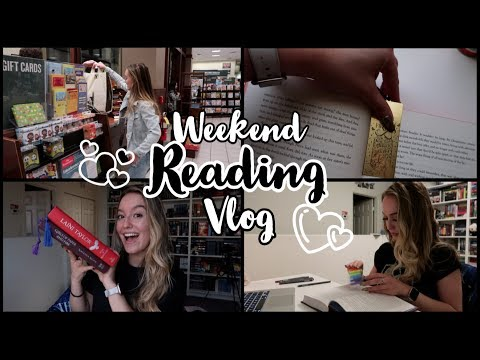 Book Shopping + A Very Fantasy Mood | Weekend Reading Vlog April 19-21
