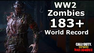 WW2 Zombies Round 187 World Record The Final Reich PS4