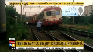 Brasov: Un tren a deraiat din cauza manevrelor de regarare
