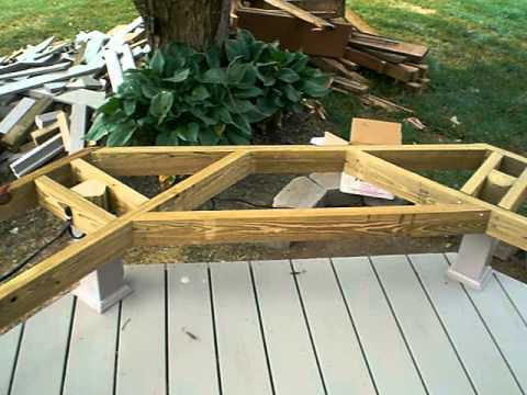 Framing for a Deck Bench - YouTube