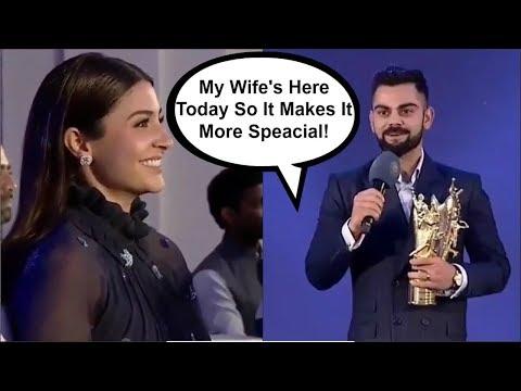 Virat Kohli ROMANTIC Speech For Wife Anushka Sharma At BCCI Awards