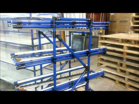 Flowrack in action - Modular material handling system