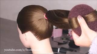 في دقيقة تسريحة الكعكة بطريقة مخلفة وسهلة One Minute Esay Everyday Messy Bun Hairstyle