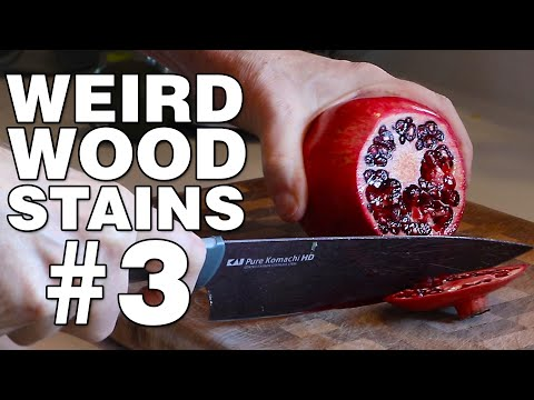 Weird Wood Stains #3. Natural methods for coloring wood.