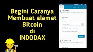 Cara membuat wallet address bitcoin di indodax MARKET TRADE EXCHANGE