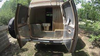 updating interior in ford econoline class b camper van rv