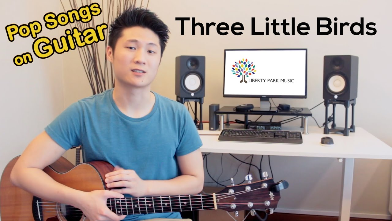 Three Little Birds Easybeginner Song With Guitar Chords Youtube