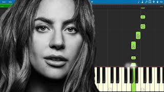Always Remember Us This Way EASY Piano Tutorial - Lady Gaga - A Star Is Born