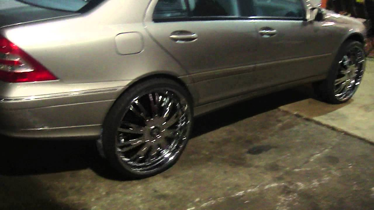 Mercedes benz on 24 dub rims youtube for 24 inch mercedes benz rims