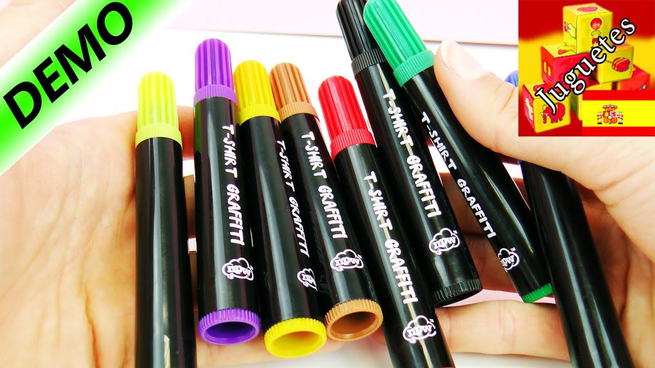 T-Shirt Graffiti Marcadores para tela - 8 colores | Demo - YouTube