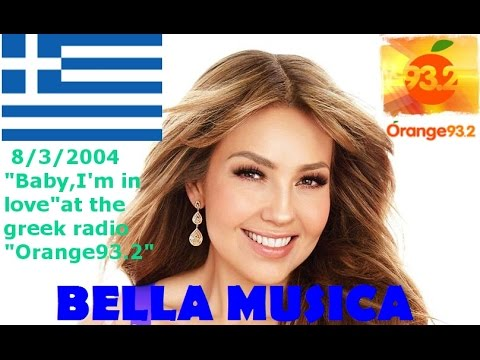 "Thalia's""Baby I'm in love""@the greek radio""Orange 93.2"" in 2004."