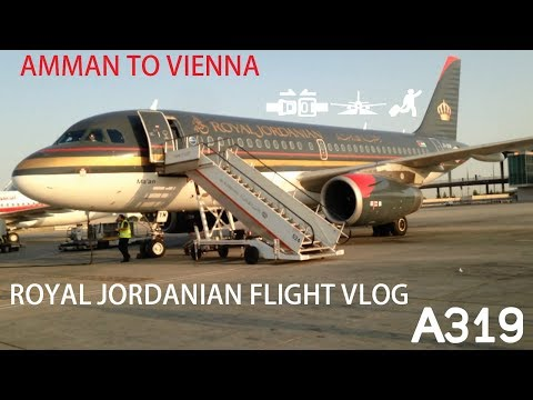 || Royal Jordanian || Flight Amman to Vienna (A319)