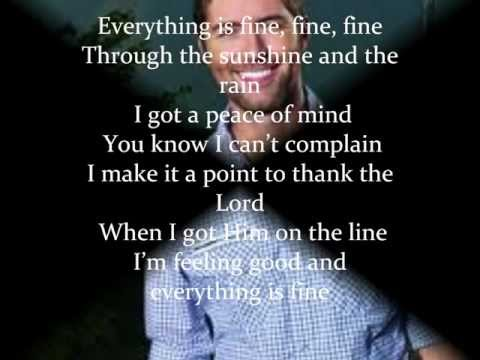 Josh Turner Everything is Fine [lyrics]